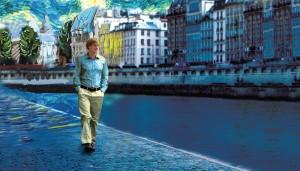 Este es Gil caminando de día en París