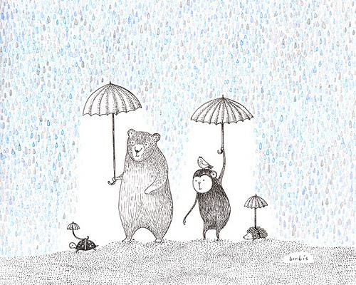 Esa tienda de paraguas para animales ya hacía falta